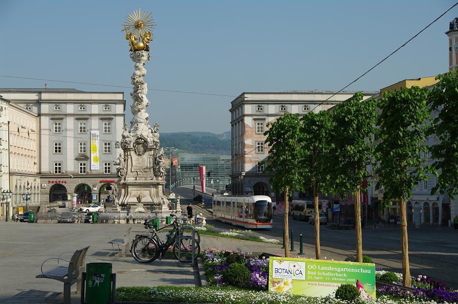 Der Hauptplatz der größten Stadt Oberösterreichs: Linz