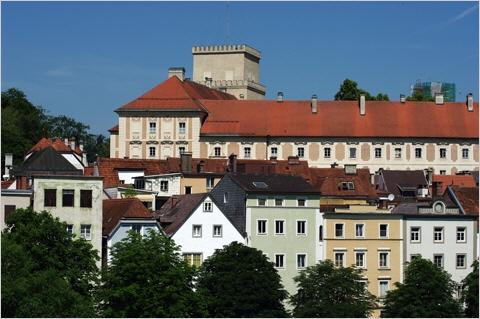 Steyr - Schloss Lamberg über der Altstadt